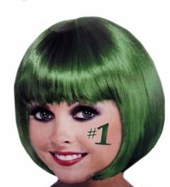 Colored Wigs - Emerald Green Wigs