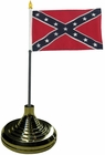 Confederate Desk Flag with Stand - 4x6 Inch Flag