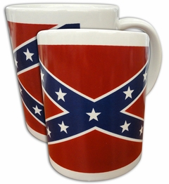 Confederate Flag 12oz White Coffee Mug
