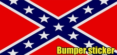 Confederate Flag Bumper Sticker and Window Decal