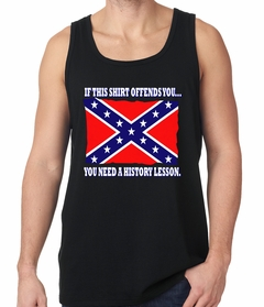 Confederate Flag History Lesson Tank Top