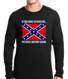 Confederate Flag History Lesson Thermal Shirt