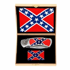 Confederate Flag Knife and Lighter Set