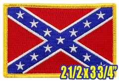 Confederate Flag Patch (2 1/2 x 3 3/4 Inches)