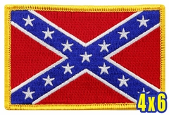 Confederate Flag Patch (4 x 6 Inches)