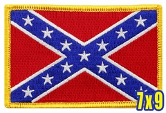 Confederate Flag Patch (7 x 9 Inches)
