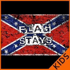 Confederate Flag Stays Kids T-shirt