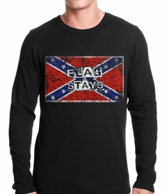 Confederate Flag Stays Thermal Shirt