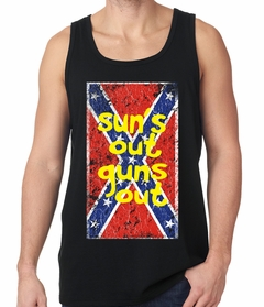 Confederate Flag Suns Out Guns Out Mens Tank Top
