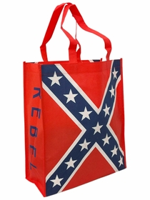 Rebel Confederate Flag Tote Bag (12 Inches Wide x 18 Inches Long)