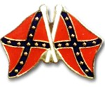 Confederate Flags Lapel Pin