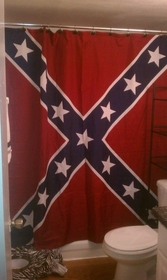 Confederate Rebel Battle Flag Shower Curtain (70 x 72 Inches)