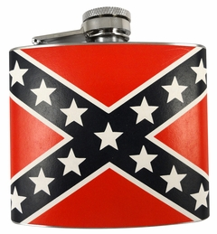 Confederate Rebel Flag 5oz Flask