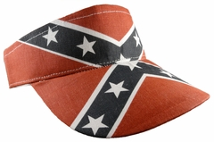 Confederate Rebel Flag Adjustable Visor