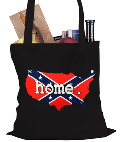 Confederate Rebel Flag America Home Tote Bag