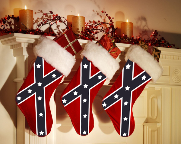 this confederate rebel flag christmas stocking is the perfect addition to your mantle this christmas this christmas stocking features a confederate flag on