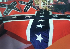 Confederate Rebel Flag King/Queen Comforter Set 90x100""