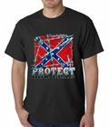 Confederate Rebel Flag - Protect Our Flag Mens T-shirt