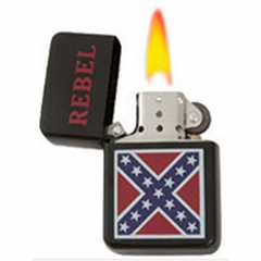 Confederate Rebel Flag Refillable Windproof Oil Lighter (Assorted)