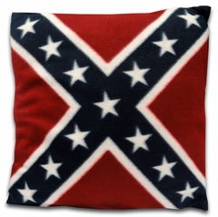 Confederate Rebel Flag Throw Pillow