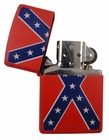confederate rebel flag zippo lighter red