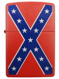Confederate Rebel Flag Zippo Lighter (Red)