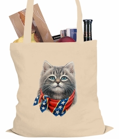 Confederate Rebel Kitten Tote Bag