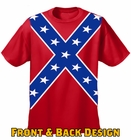 Confederate Flag Tshirt - Confederate Rebel Pride All Over T-Shirt (Front and Back Print)