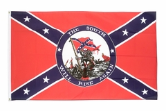 Confederate The South Will Rise Again Flag (3 x 5 Ft)