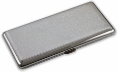 Contemporary Metallic Silver Cigarette Case (Fits Up To 120's)