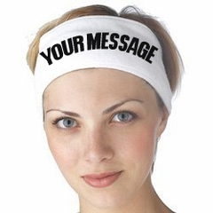Custom Headbands - Your Message Printed on a Head Band!