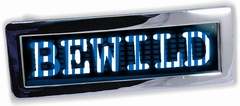 Custom LED Screen Belt Buckle (Blue & White)