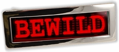 Custom LED Screen Belt Buckle (RED)