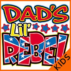 Dads Lil' Rebel Kids T-Shirt
