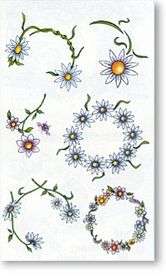 Daisy Belly  Temporary FakeTattoo