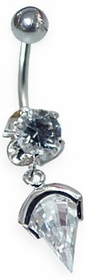 Dangle Teardrop Navel Jewelry