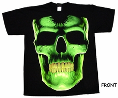 Dark Skull Glitter Teeth T-Shirt (Glows In The Dark)