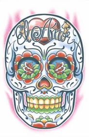 Day Of The Dead El Amor Temporary Tattoo