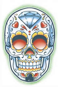 Day Of The Dead El Jugador Temporary Tattoo