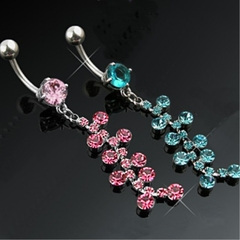 Navel Body Jewelry - Dazzling Dangle Belly Button Ring