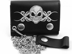 Death Skull Genuine Leather Chain Wallet