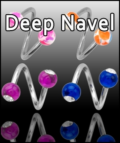 Deep Navel Piercings