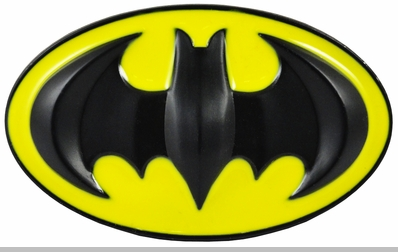 Deluxe Classic Batman Belt Buckle with FREE Belt (Yellow/Black)<!-- Click to Enlarge-->