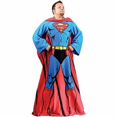 Deluxe Superman Cozy Snuggie Blanket with Sleeves