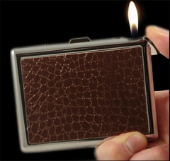 Designer 2 in 1 Cigarette Case with Built in Lighter (For Regular Size)