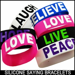 Designer Rubber Saying Silicone Bands