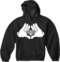 Diamond Cartoon Hand's Adult Hoodie