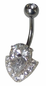 Diamond Teardrop Navel Jewelry