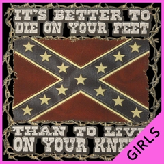 Die On Your Feet Rebel Flag Girls T-shirt