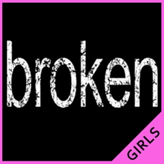 Distressed Broken Girls T-Shirt